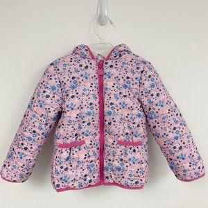 Kensie Girl pink floral fleece lined jacket Sz 3T